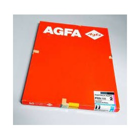 Carta fotografica professionale Agfa 100 fogli 17,8x24 cod. bw 310 rc stampa in bianco e nero