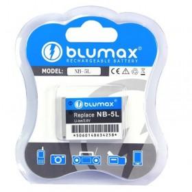 Bluemax batteria ioni di litio NB-5L compatibile con Canon SD900 SD950 IS SD970 IS S