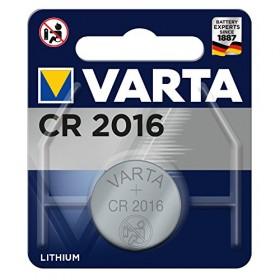 VARTA CR 2016, 6016101415, Batteria Litio a Bottone, Piatta, Specialistica, 3 Volts, Diametro 20mm, Altezza 1,6mm, confezione 5
