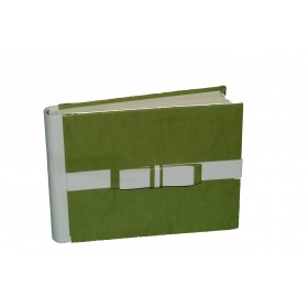 EcoPelle Fiocco Album Fotografico 20*16 20 fogli verde erba