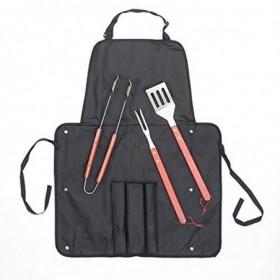 bbq-equipment-grembiule-con-tasche-spatola-forchetta-pinze-incluse